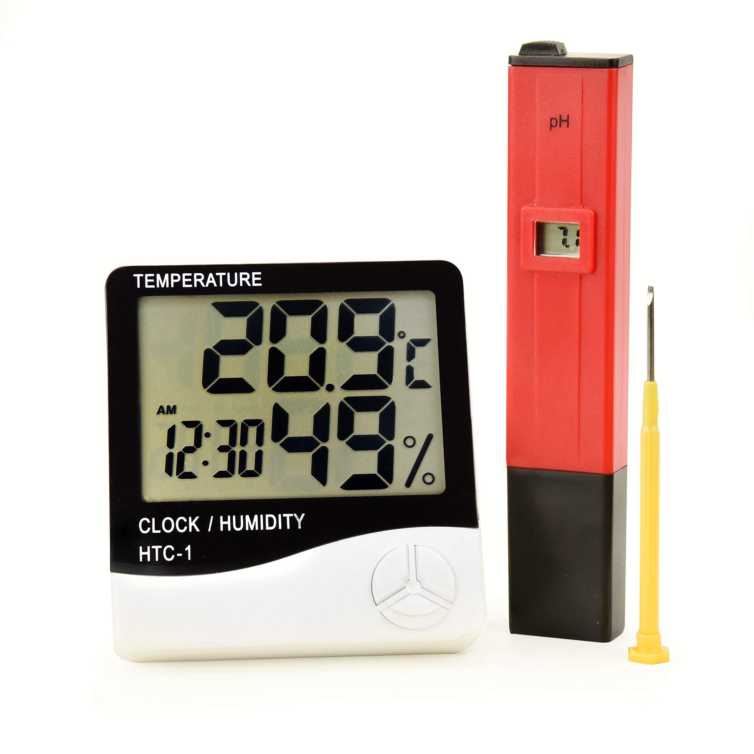 Joyous LLC Ph Meter and Hygrometer Bundle
