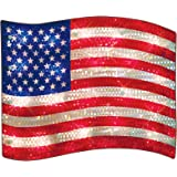 Impact Innovations Patriotic Shimmer Lighted Window Decoration, Old Glory