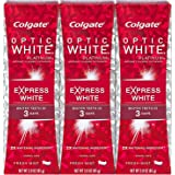 Colgate Optic White Express White Whitening Toothpaste, Travel Friendly - 3 Ounce (3 Pack)