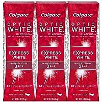 Colgate Optic White Express White Whitening Toothpaste, Travel Friendly - 3 Ounce...