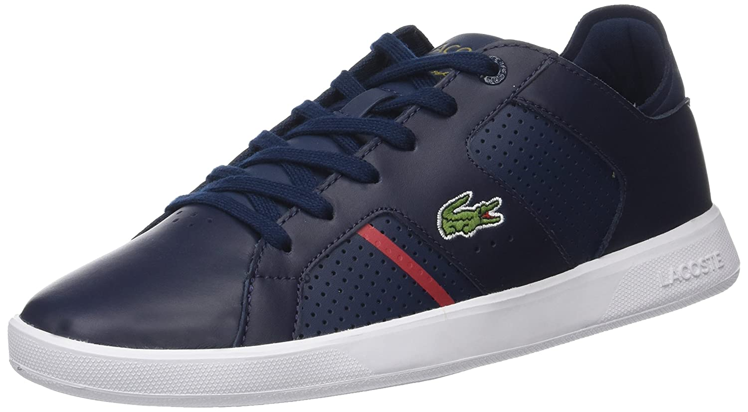 Amazon.com | Lacoste Mens Navy/Red Novas 118 1 Sneakers-UK 11 | Fashion Sneakers
