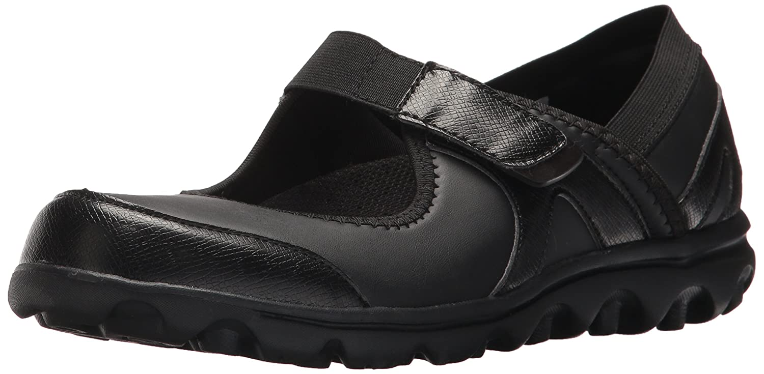 Propét Women's Onalee Mary Jane Flat B073C3KQKT 7.5 W US|All Black Smooth