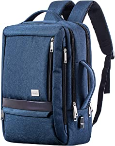 15.6 inch School Backpack, Durable Fashion College Computer Backpack with USB Charging Port, Functional Gifts for Men, Women and Kids Blue