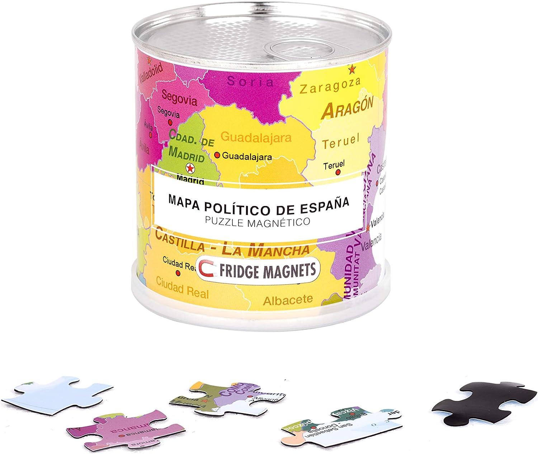 Extra Goods Puzzle magnético enlatado Mapa Político de España ...
