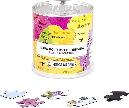 Extra Goods Puzzle magnético enlatado Mapa Político de España - Puzzle: Amazon.es: Bebé