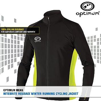 OPTIMUM Nitebrite Winter Roubaix - Chaqueta de ciclismo para hombre: Amazon.es: Deportes y aire libre