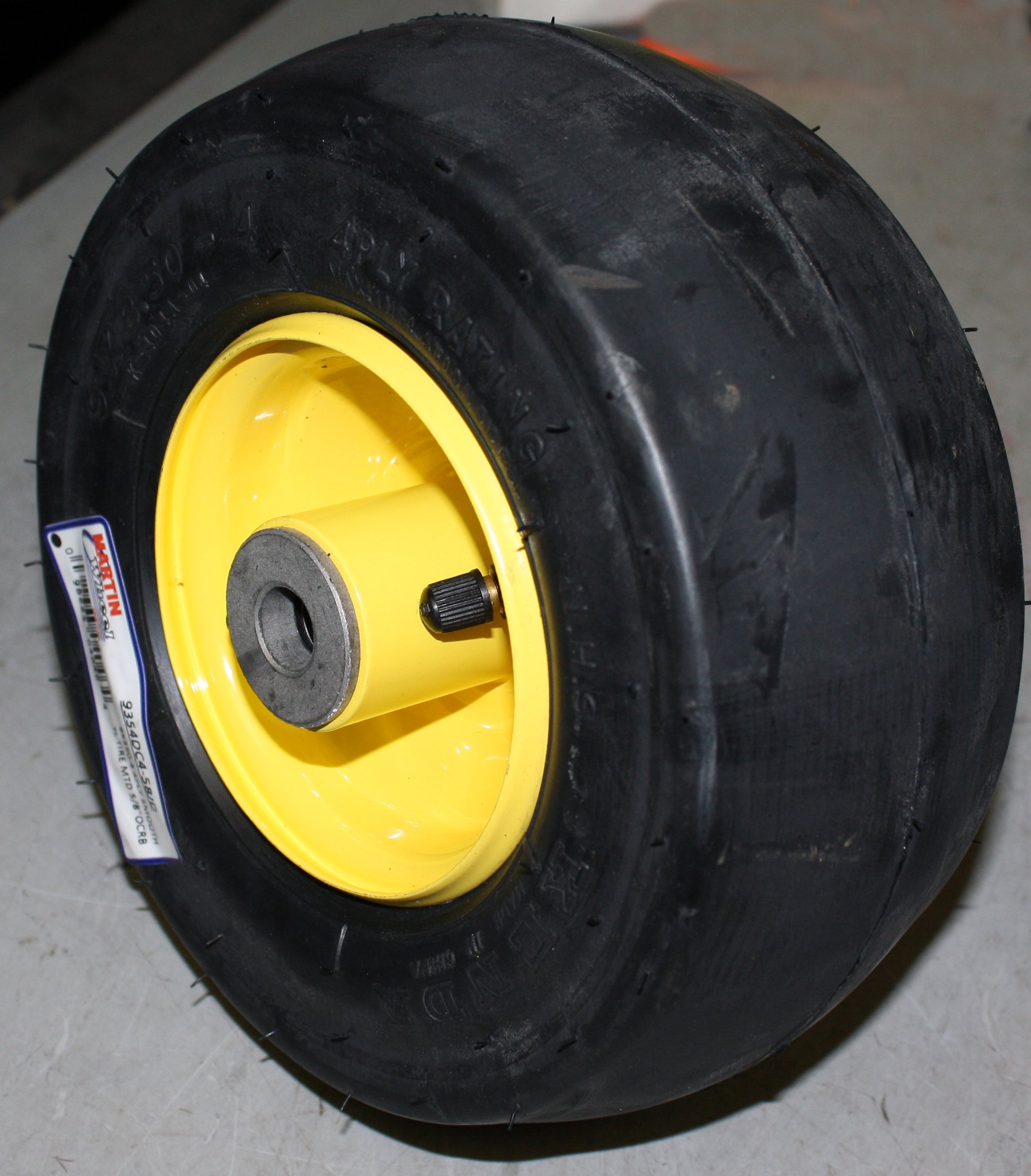 Martin Wheel 9x3.50-4 Kenda 4 ply Tubeless Tire Rim Assembly 5/8'' ORCB 3 3/4'' Hub Length