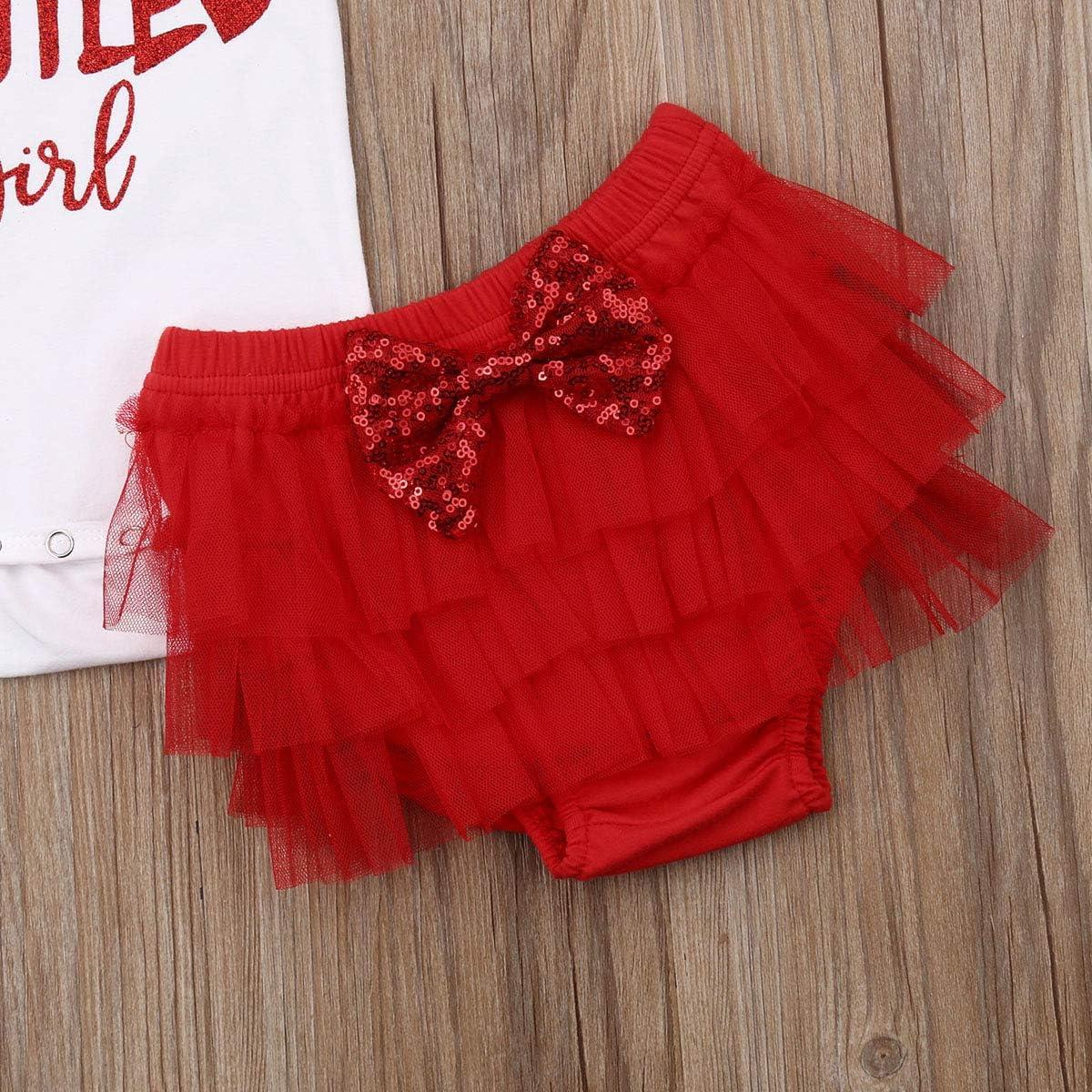 3Pcs//Set Baby Girl Daddys Little Girl Bodysuit Romper+Tutu Shorts+Bowknot Headband Set