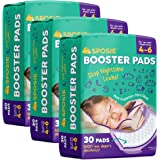 Sposie Overnight Diaper Booster Pads, 90 ct, No Adhesive for Easy Repositioning, Helps Stops Nighttime Leaks, Fits…