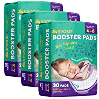 Sposie Booster Pads Diaper Doubler, 90 Count, 3 Packs of 30 Pads, No Adhesive for...