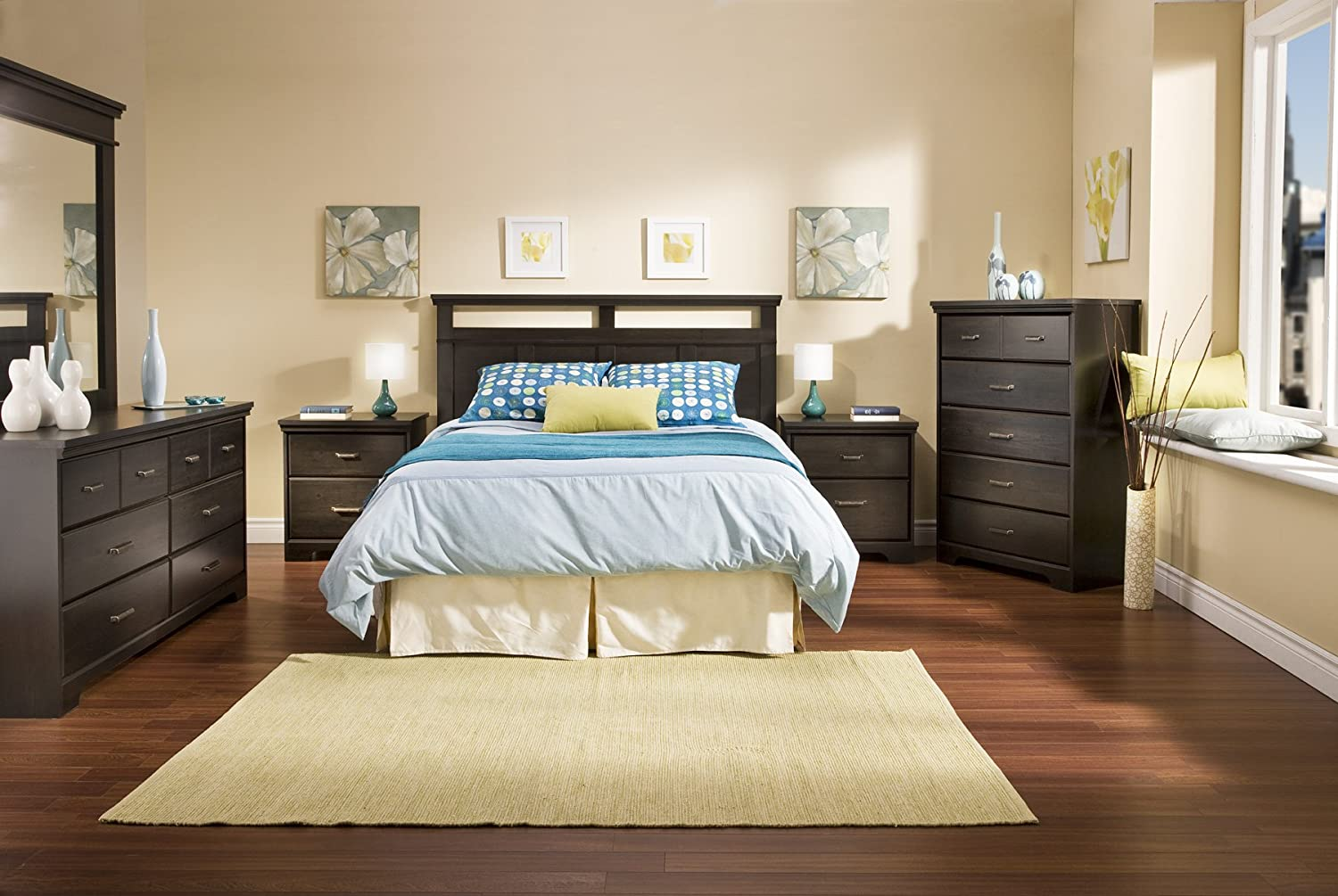 Amazon.com   South Shore Versa Collection Full/Queen Headboard, Ebony    Full Size Headboard