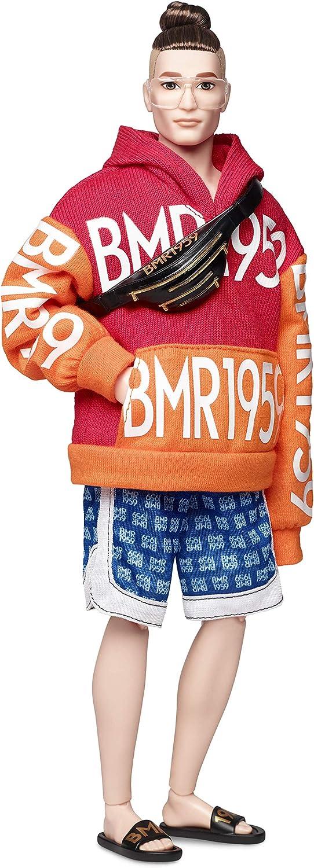 Barbie Ken Muñeco BMR 1959, look moño , regalo para niñas y niños 3-9 años (Mattel GHT93) , color/modelo surtido