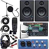 Presonus AudioBox 96 Audio Interface (May Vary Blue or Black) Full Studio Bundle with Studio One Artist Software Pack w…