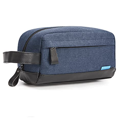 8f7412de0a CoolBELL Toiletry Bag Organizer Dopp Kit Case Makeup Bag Leak Resistant  with Handle Strap for Men Women Travel (Blue)  Amazon.co.uk  Luggage