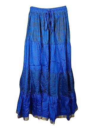 Mogul Interior - Falda - Trapecio - para Mujer Azul Azul: Amazon ...