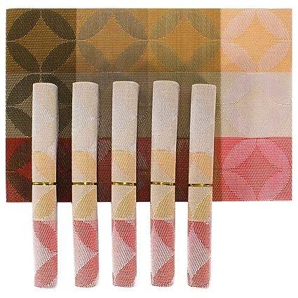 HOKIPO 6-Piece PVC Dining Table Kitchen Placemats Set, Multicolour, 45 x 30cm