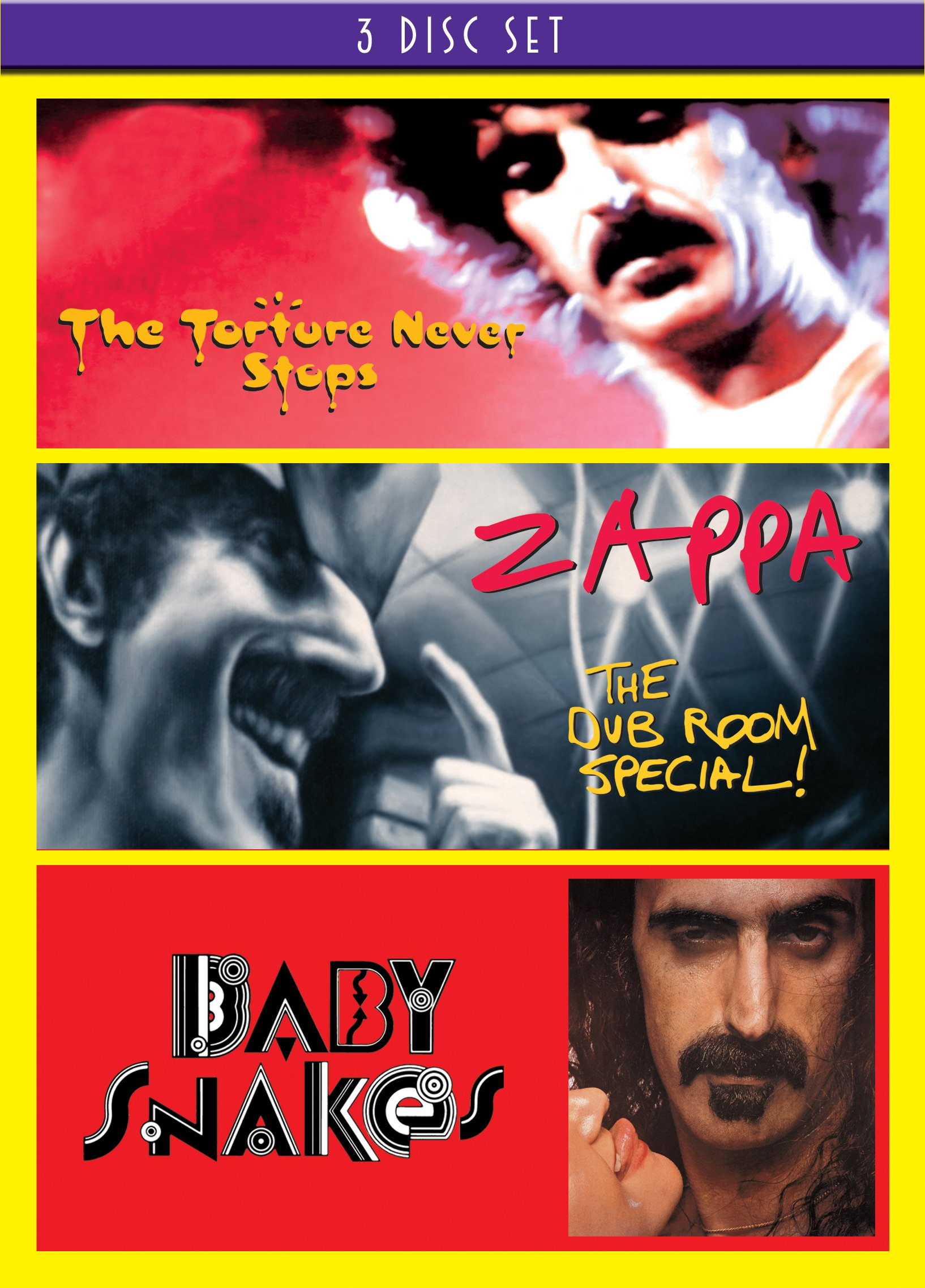 DVD : Frank Zappa - Baby Snakes / The Dub Room Special / The Torture Never Stops (3 Disc)