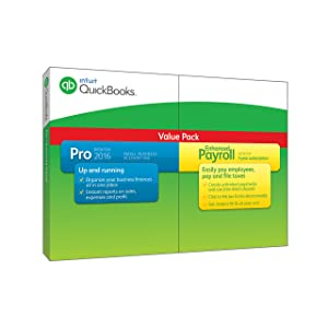 QuickBooks Pro 2016 with Enhanced Payroll by Intuit