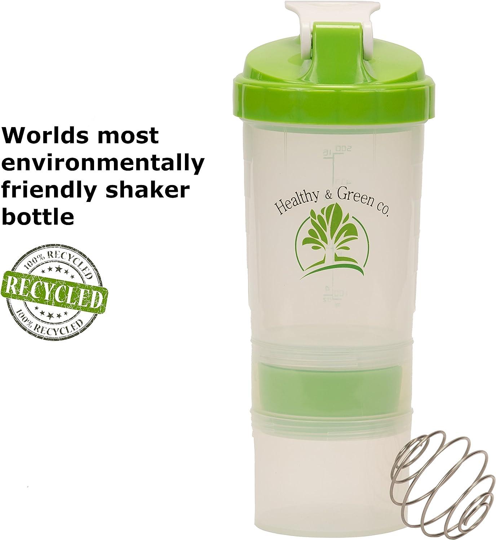 Healthy & Green Co. Botella de agitador apilable, coctelera de ...