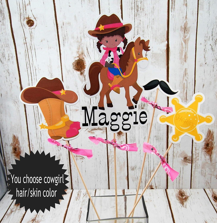 Mini Cowgirl Kit Pink Hat Sheriff Badge Bandana Mustache Western Rodeo Kid Pet