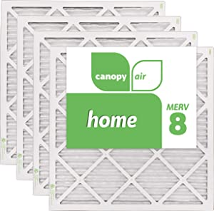 "Canopy Air 20x20x1, Home AC Furnace Air Filter, MERV 8, Made in the USA, 4-Pack (Actual Size 19 1/2"" x 19 1/2"" x 3/4"")"