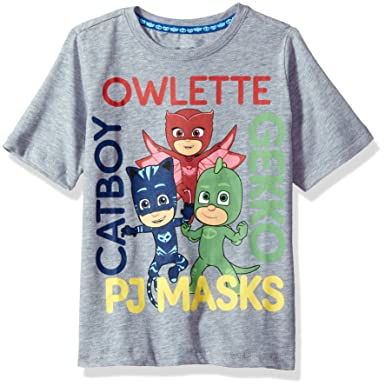 c4e0b7c49 Amazon.com: PJ MASKS Toddler Boys' Short Sleeve Tee Shirt: Clothing