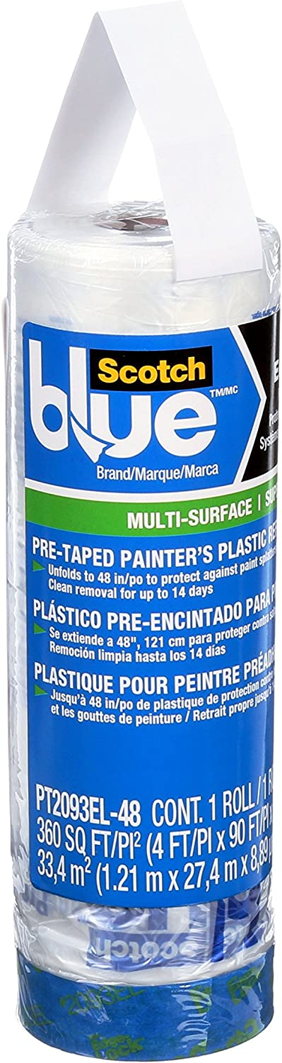 ScotchBlue Pre-taped Painter's Plastic | eDesign Tools for DIY Enthusiasts by Revision Custom Home Design | eDesign Tribe Blog