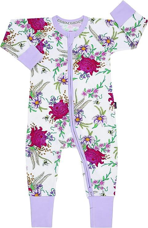 Bonds Zip Wondersuit 3-6 months 68 cm Wendys Wildflowers White