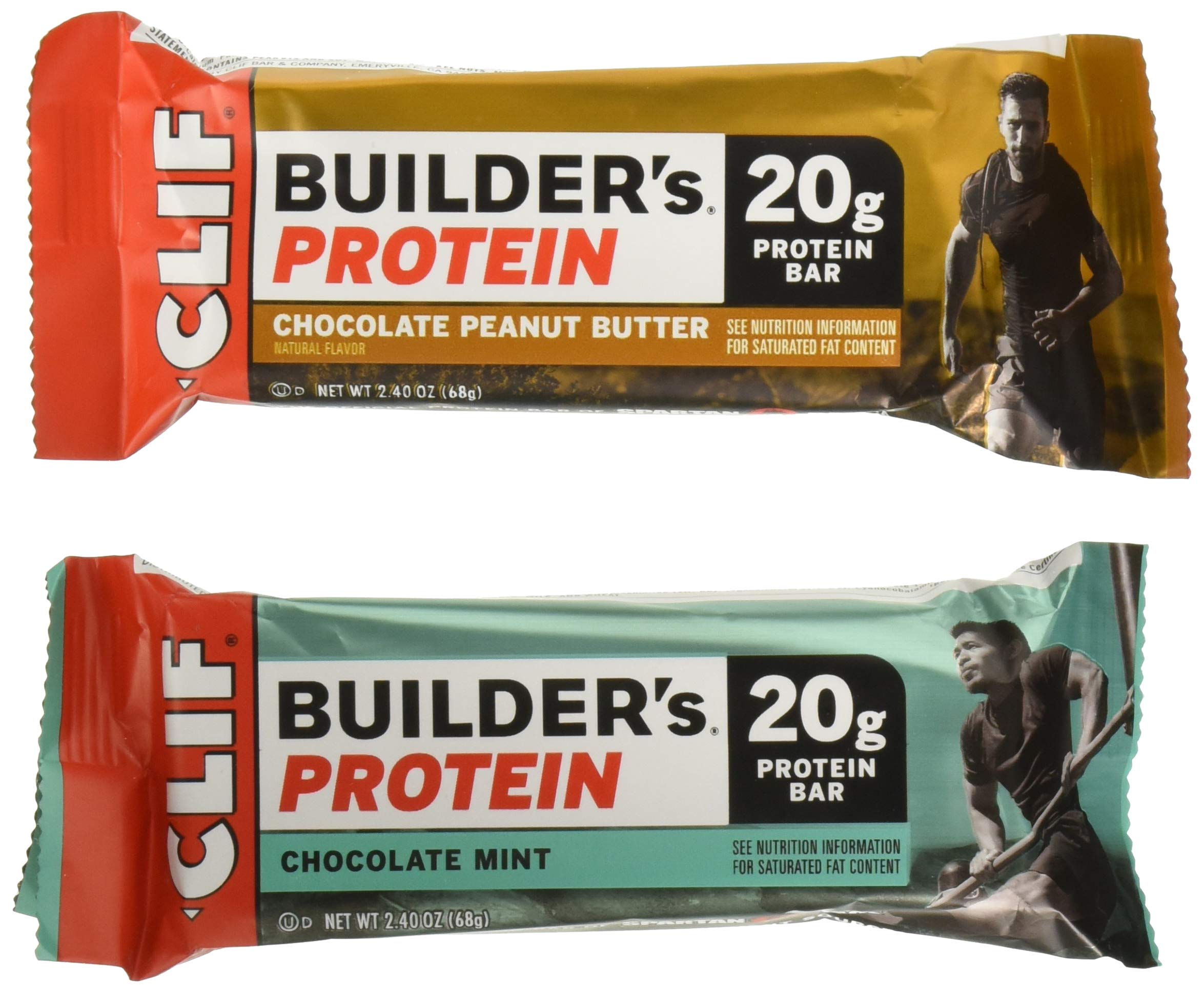 Clif Builders Protein Bar Variety Pack, 18 Count, Pack of 1 by Clif Bar