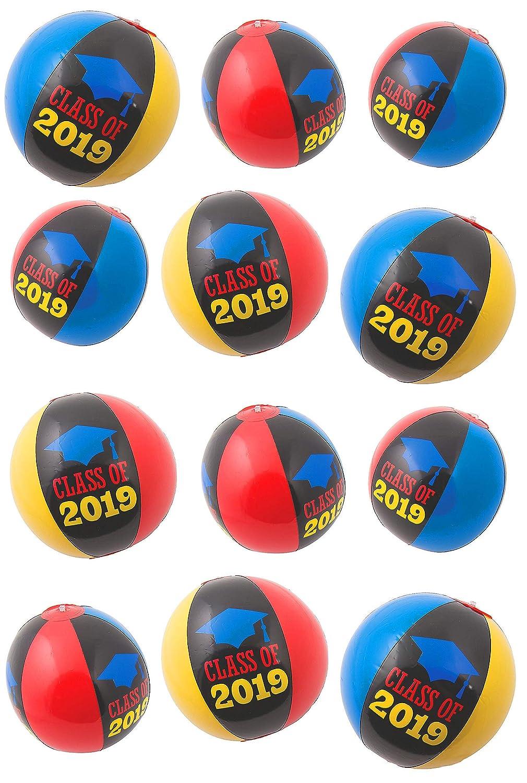 クラスの2018インフレータブルビーチボール、カラフルなボール12パック/卒業式パーティーSupplies by 4e 's Novelty   B07BSZG15T