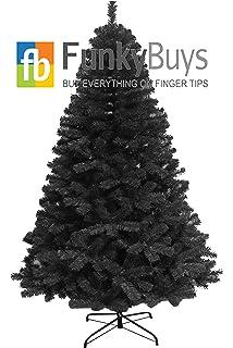 1.8m (6ft) Arctic Spruce Black Artificial Christmas Tree: Amazon ...