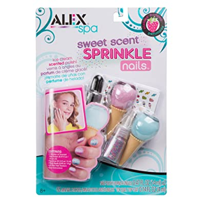 Alex Spa Sweet Scent Sprinkle Nail Stickers Girls Fashion Activity: Toys & Games