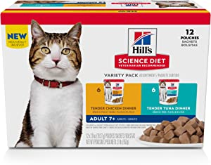 Hill's Science Diet Senior 7+ Wet Cat Food Pouch, 2.8 oz