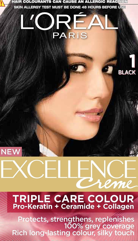 Buy Loreal Paris Excellence Creme Black 01 72ml100g Online At