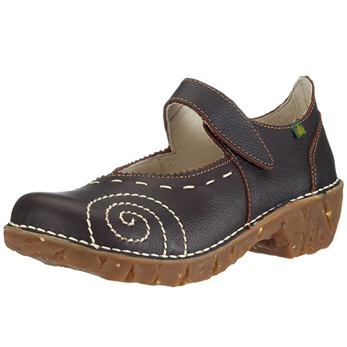 Womens El Naturalista Mary Janes Wood Pull Grain Yggdrasil N095
