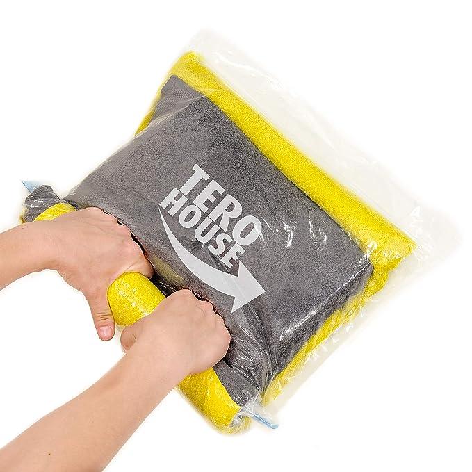 De viaje bolsas de almacenamiento de ropa ahorro de espacio embalaje sacks- Pack de 10 [5 x grande 28 x 20,