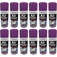 NEW 12 X 200ML COMPRESSED AIR CAN DUSTER SPRAY CAN CLEANER CLEAN & PROTECTS LAPTOP KEYBOARD ELECTRONICS 200 ML PACK SET OF 12