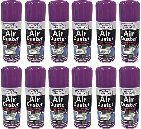 12 x 200 ML aire comprimido nuevo puede lata de aerosol plumero limpiador limpia y protege