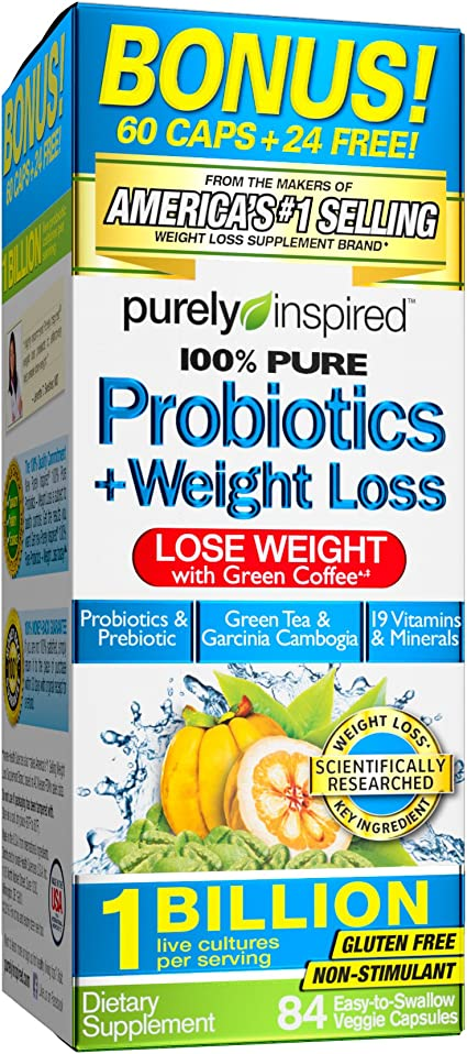 Amazon Com Purely Inspired Probotics Weight Loss Tablets