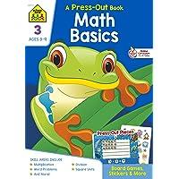 School Zone Math Basics Grade 3 Press-Out Workbook