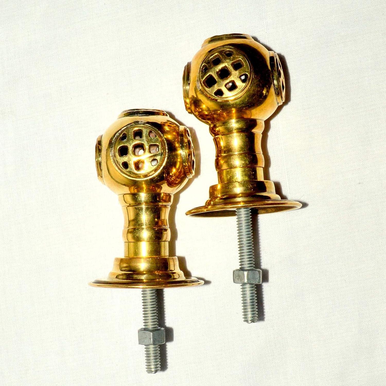 Heavy  SOLID Cast Brass Door Knob