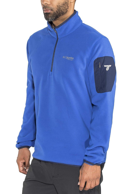 Columbia Titan Pass 1.0 Half Zip Fleece Men Azul/Collegiate Navy 2018 Midlayer