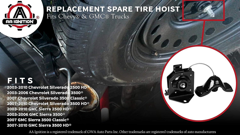 For 2003-2006 Chevrolet Silverado 3500 Spare Tire Hoist 92694QZ 2004 2005