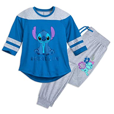 Amazon.com  Disney Stitch Pajama Set for Women Size Ladies XL Multi ... 8403bbecf