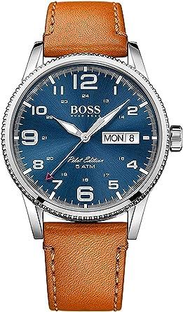 Hugo BOSS Reloj Análogo clásico para Hombre de Cuarzo con Correa en Cuero 1513331: Amazon.es: Relojes