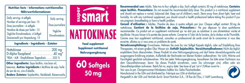 Supersmart MrSmart - Cardiovascular, Enzimas - Nattokinase ...