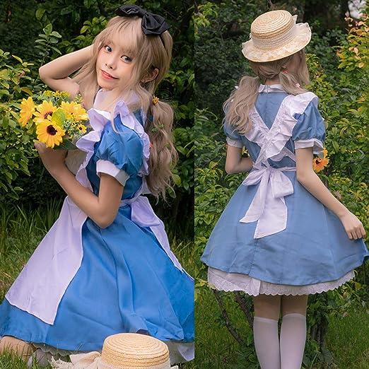vestido azul criada disfraz