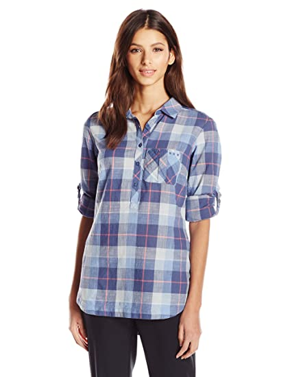 6025ea508ba Columbia Sportswear Women's Coral Springs II Woven Long Sleeve Shirt,  Bluebell Plaid, X-