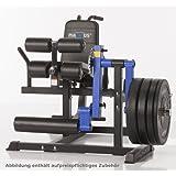 MAXXUS Multi Trainer Pro - Beinstrecker, Beinbeuger, dicke Polsterungen, für Hantelscheiben mit 50/52mm Lochdurchmesser. Einzelplatzmaschine.