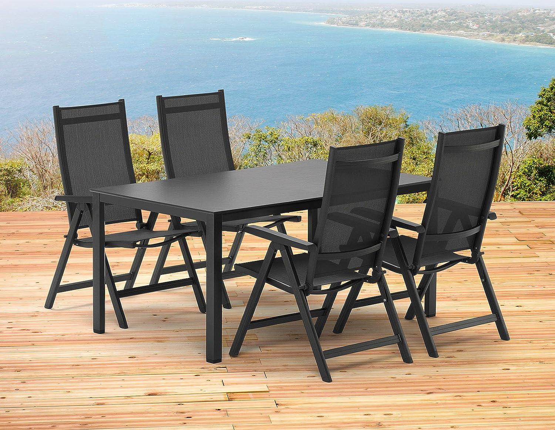 Kettler Basel Gartenmöbel 1 Tisch 140x95 Cm Und 4 Klappsessel In